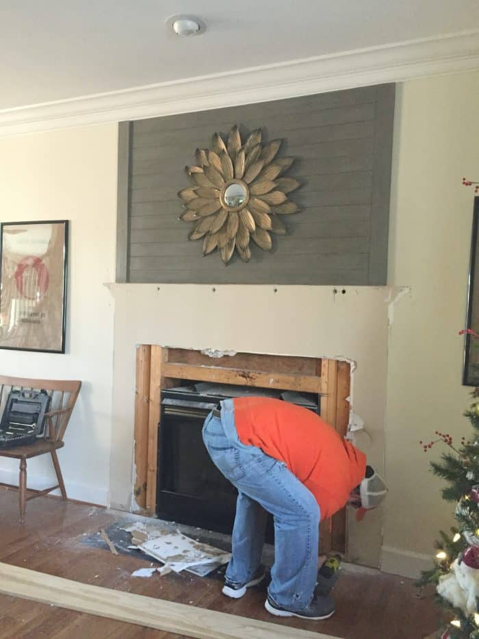 Fireplace Makeover Demo Day