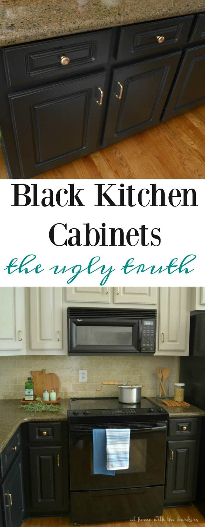 Black Kitchen Cabinets the ugly truth and why I wouldn't do it again.