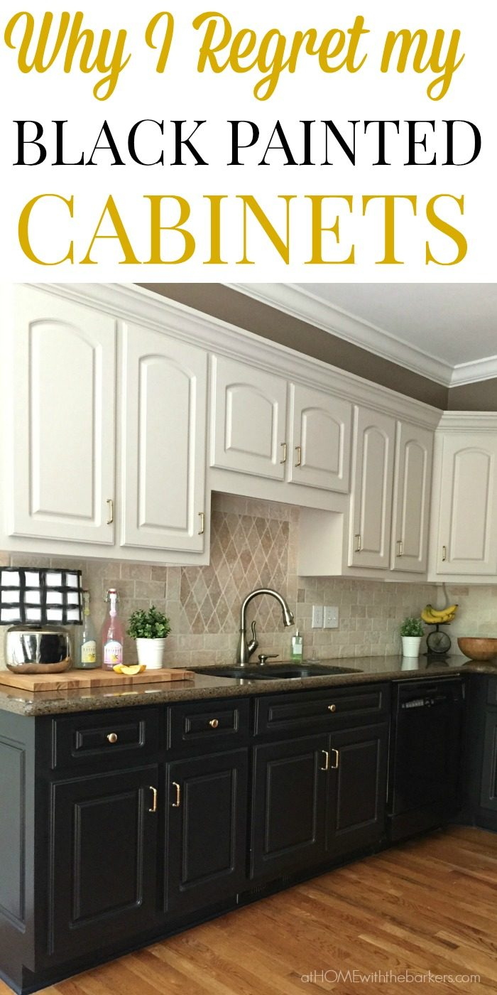Black Kitchen Cabinets The Ugly Truth At Home with The Barkers