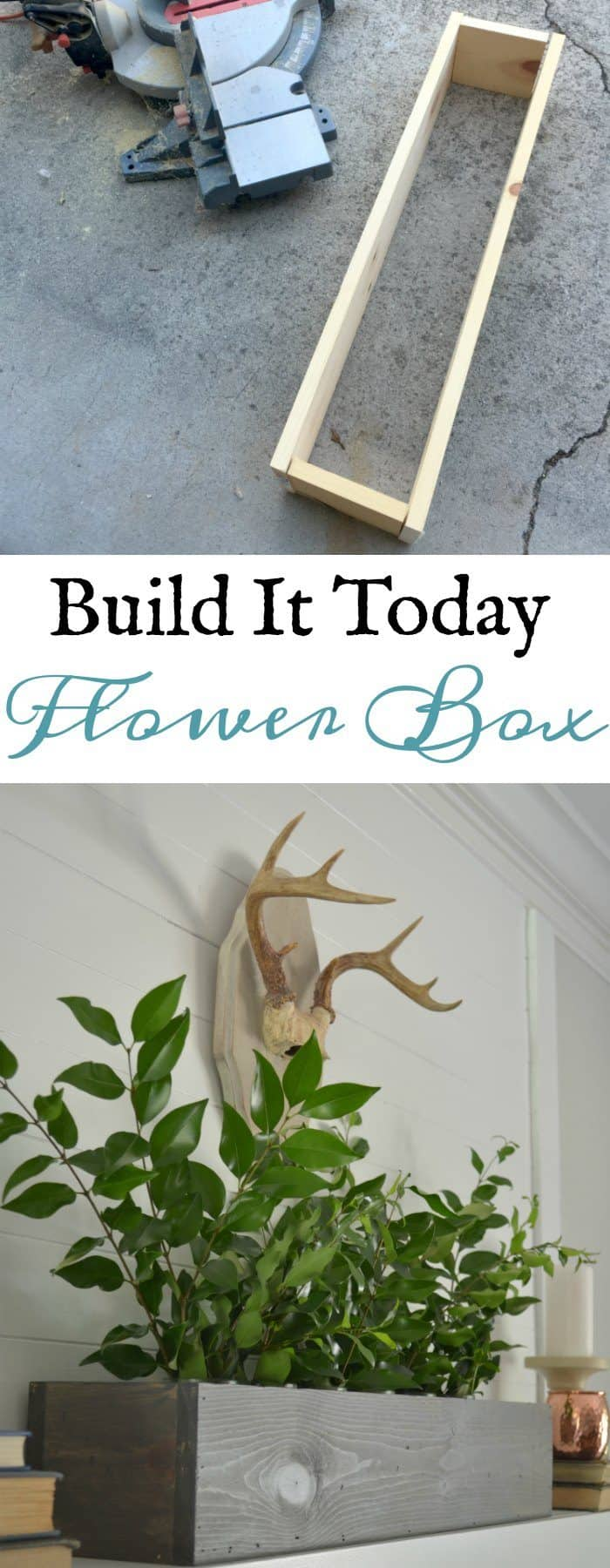 DIY Flower Box out of scrap wood in the garage.