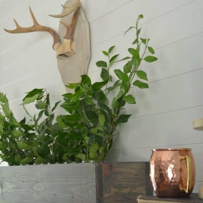 Simple Fall Mantel Styling