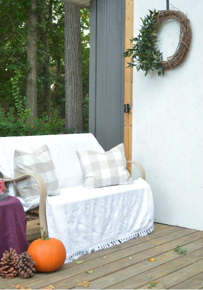 Shed Fall Porch with touches of orange and purple