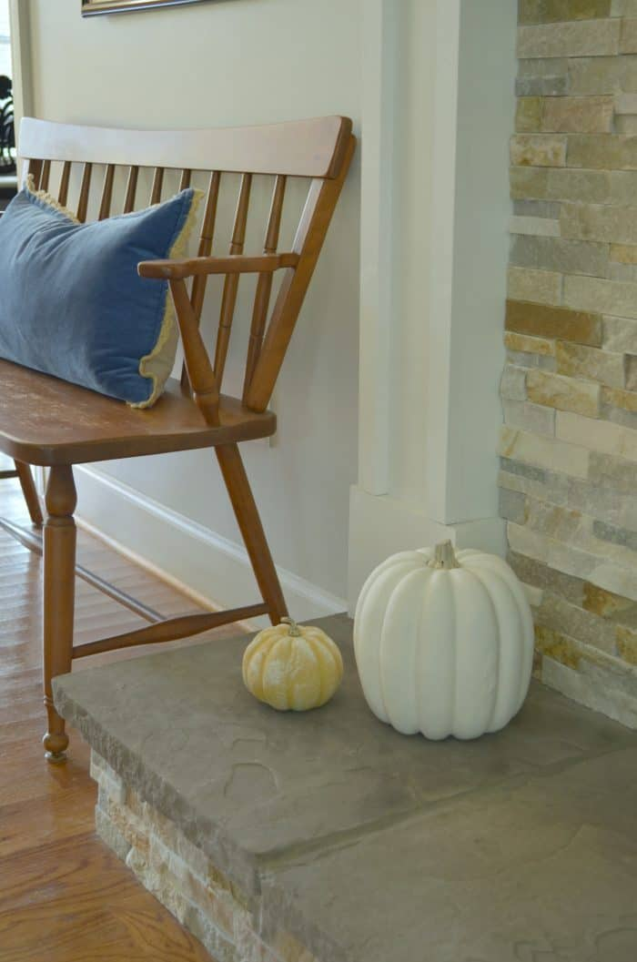 Simple Fall Mantel Styling without spending money