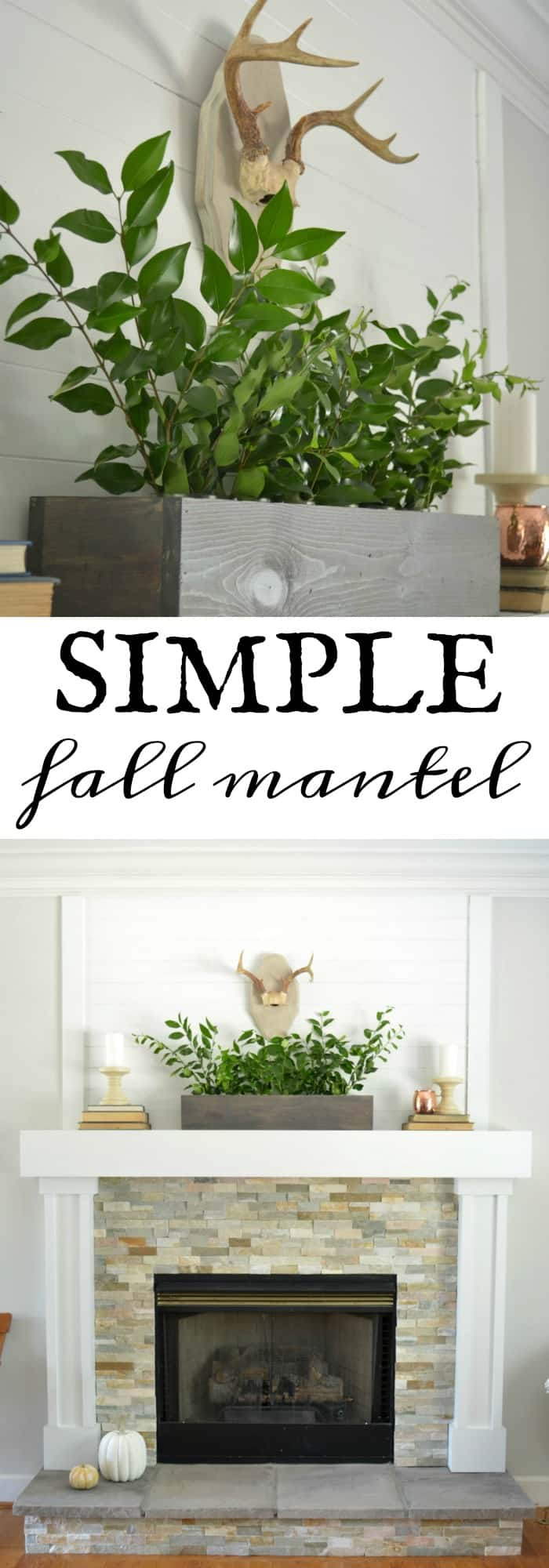 Simple Fall Mantel Styling using what you have around your house.