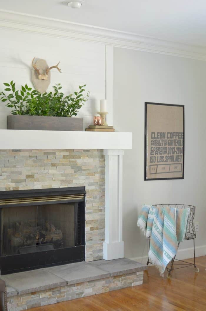 Simple Fall Mantel Styling and Decor without spending money