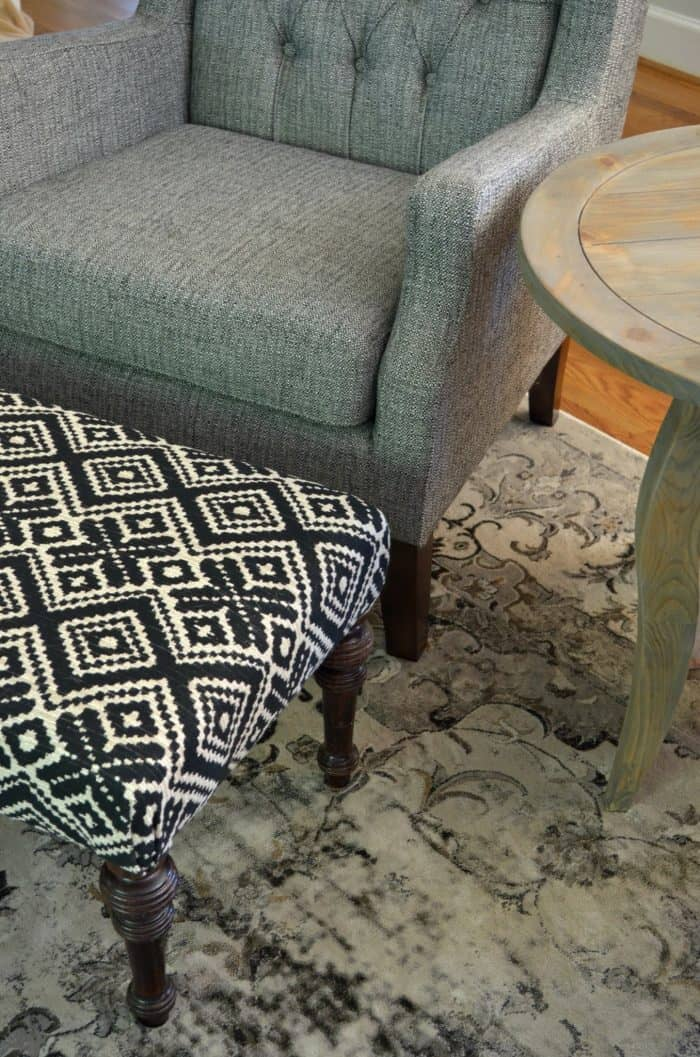 Family Room Makeover for the Fall 2016 One Room Challenge / Ottoman Makeover
