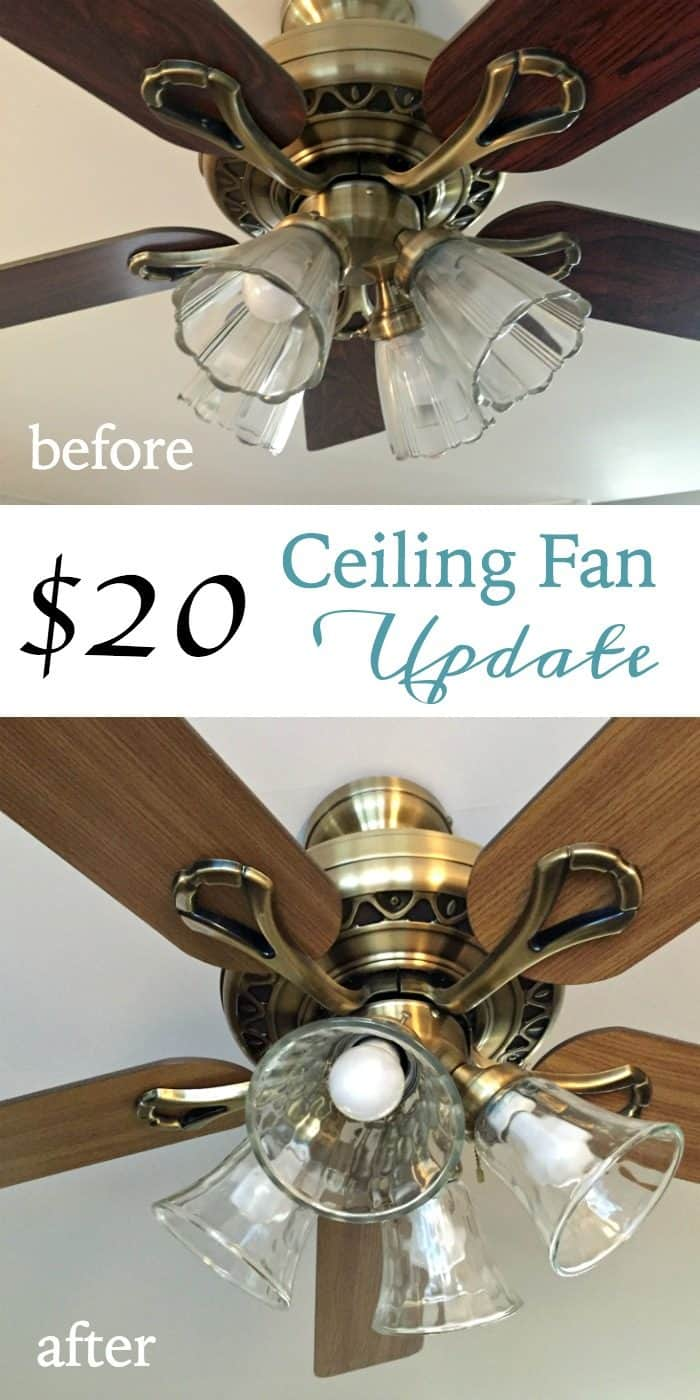 $20 Ceiling Fan Update for the One Room Challenge Family Room Makeover