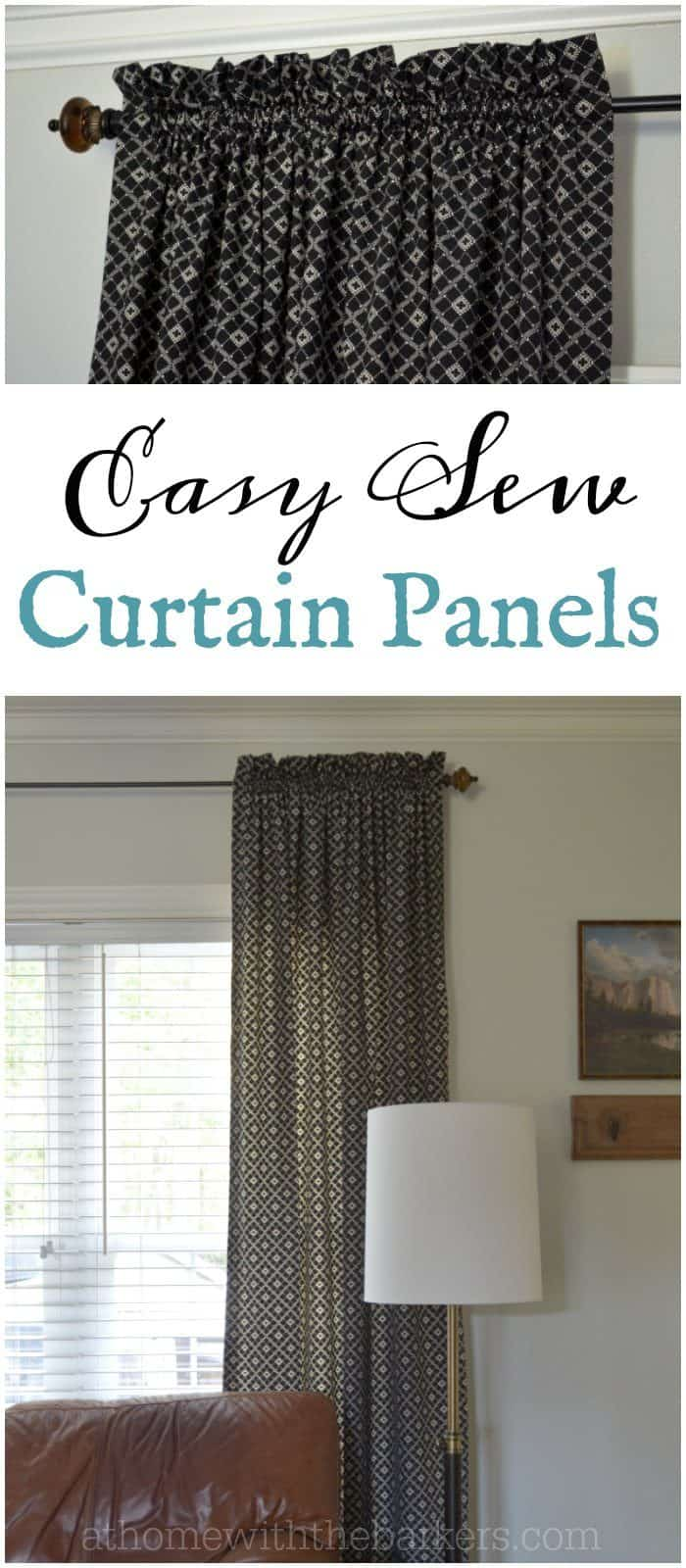 Learning to sew has saved me lots of money through the years. Click to see these easy sew curtain panels.