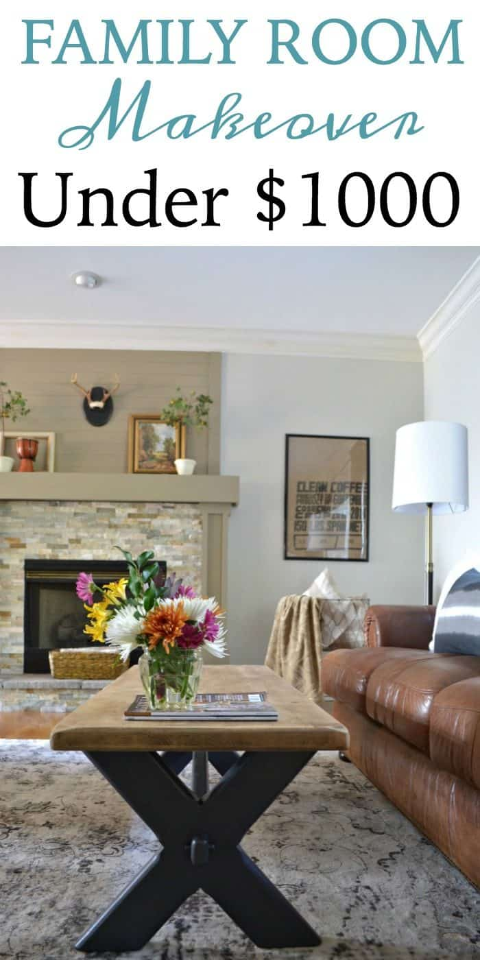 One Room Challenge Affordable Family Room Makeover Under $1000