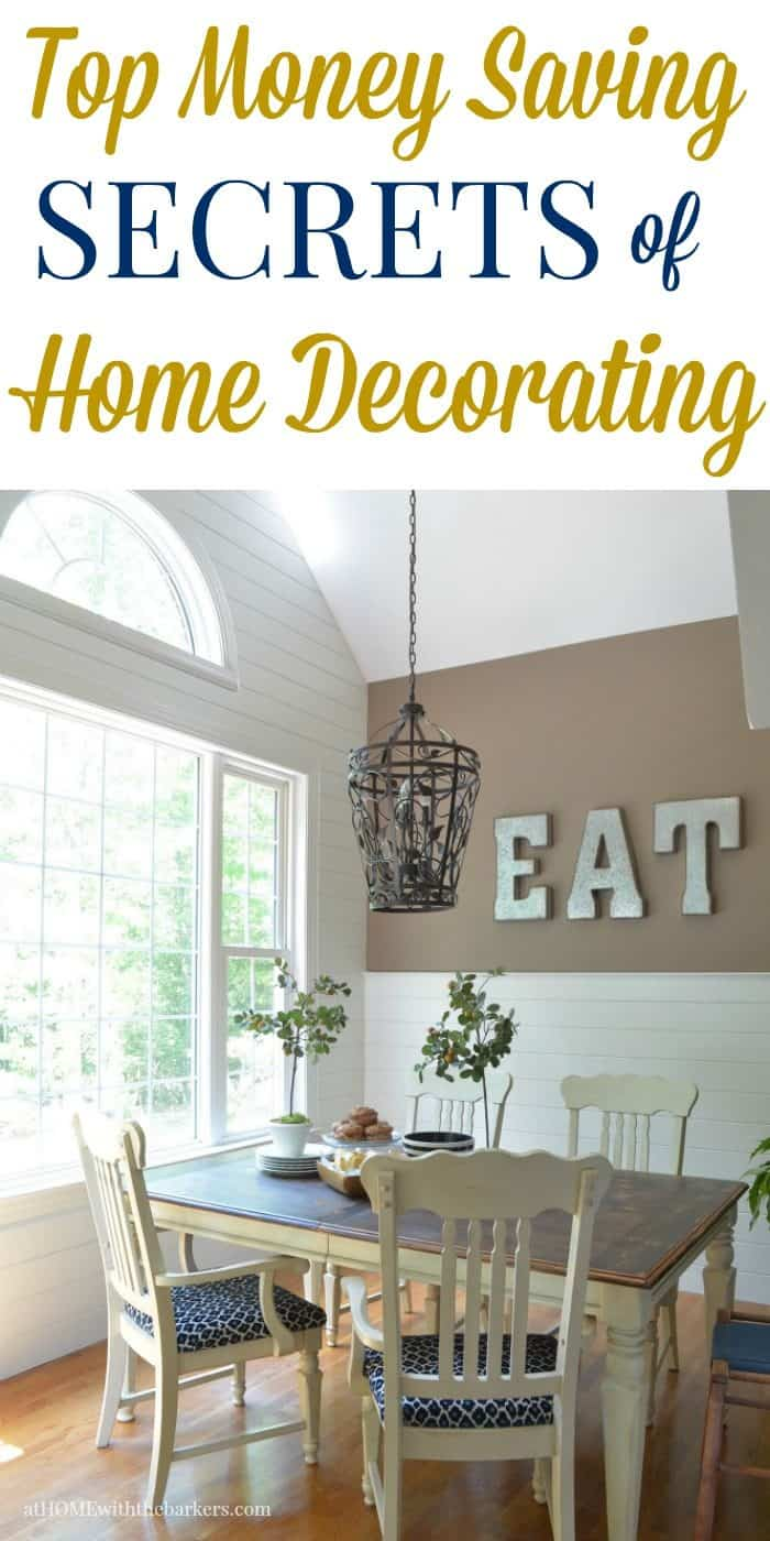 Money saving Secrets of Home Decorating that will save you thousands