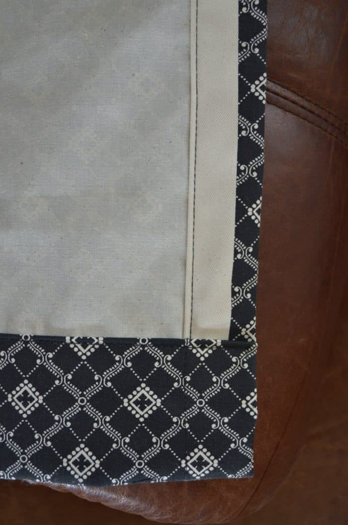 Easy Sew Curtain Panels with side seams, double hem and rod pocket.