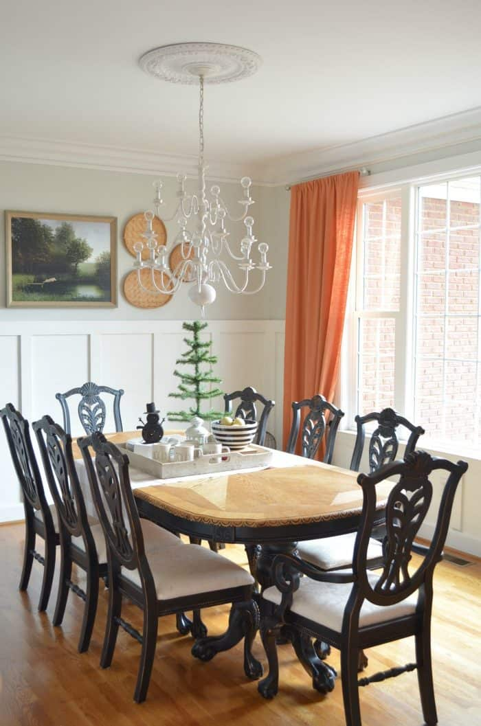 Neutral christmas decor at home with the barkers for Casual formal dining room