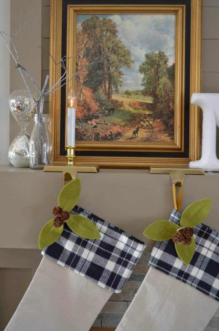 Neutral Christmas Home Tour and Handmade Stockings