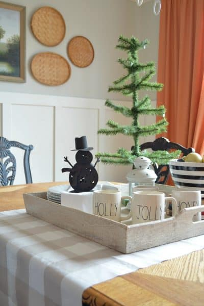 Neutral Christmas Dining Room