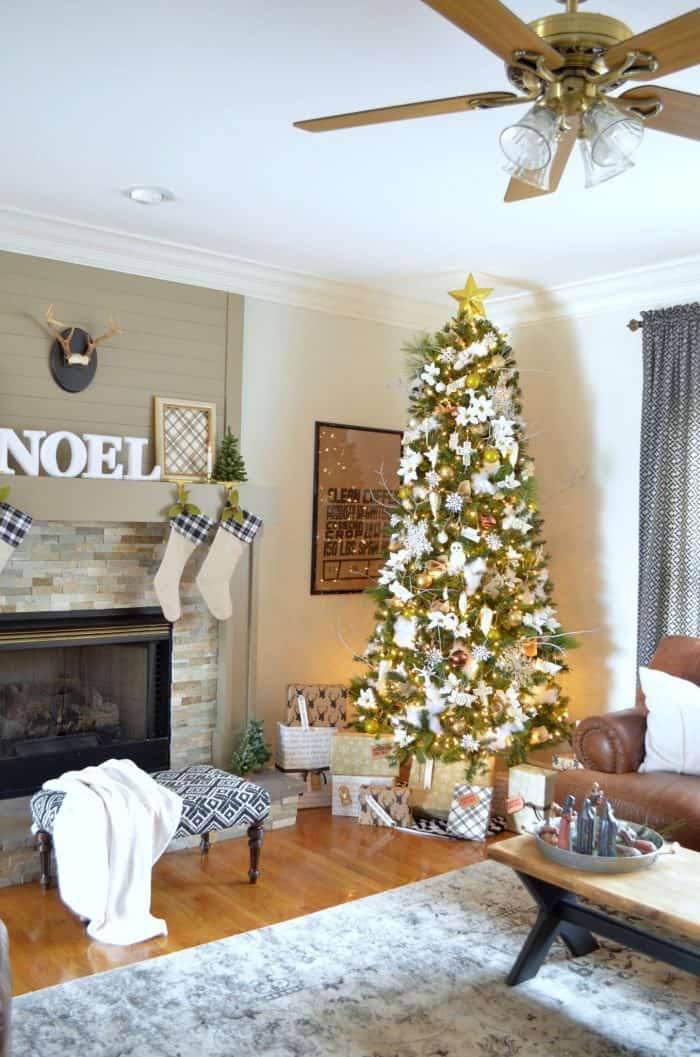 Neutral Christmas Decor At Home With The Barkers