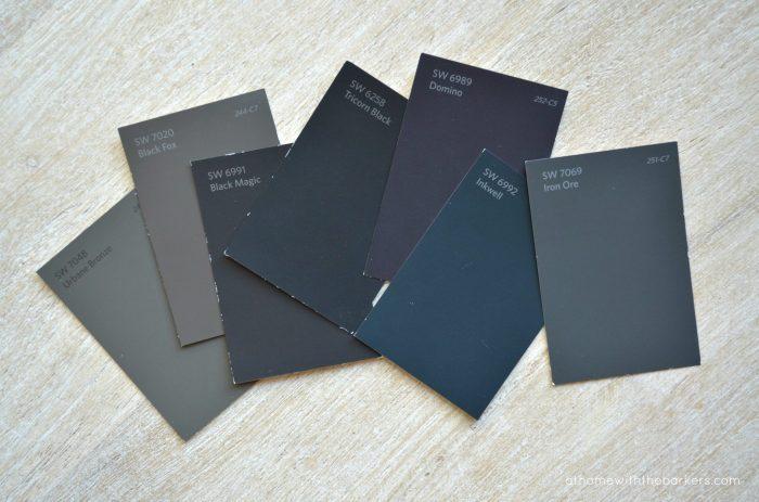 Best Black Paint Colors: Seeing the undertones.