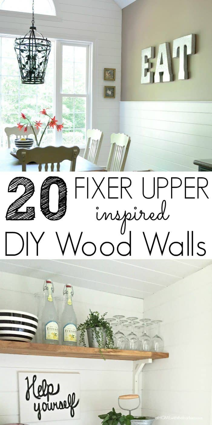 20 Fixer Upper DIY Wood Walls inspired by Joanna Gaines