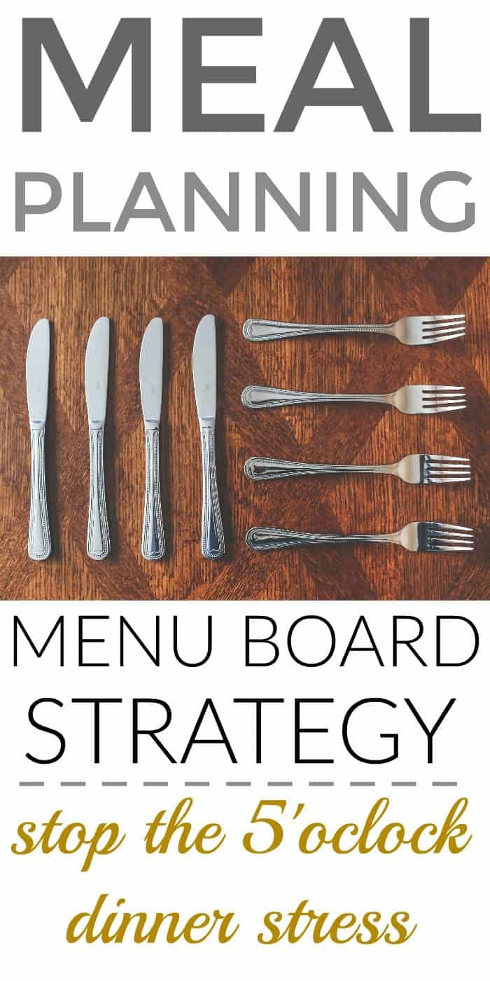 Meal Planning Menu Board Strategy