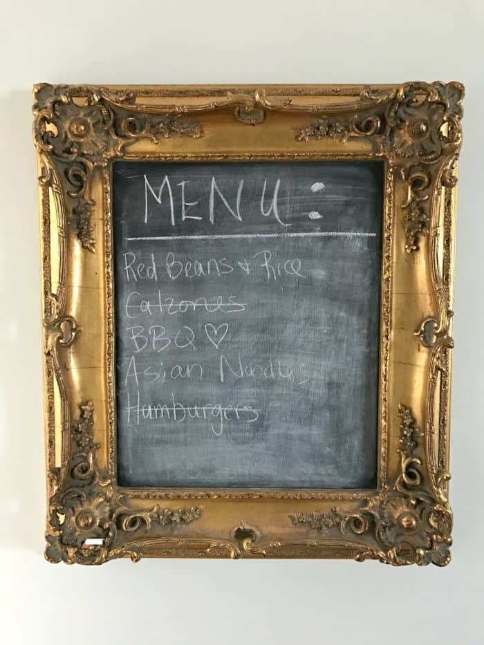 Simple Weekly Meal Planning Idea
