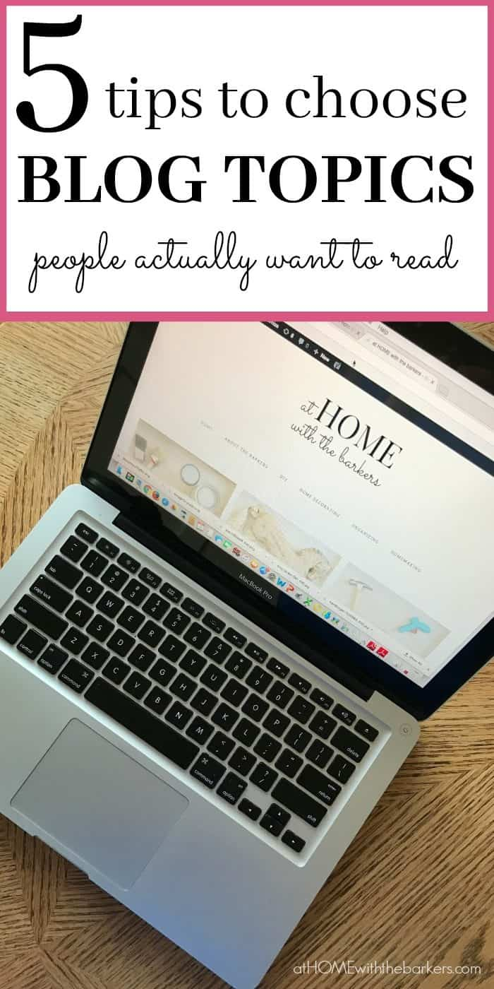 After 4 years of blogging I have figured out exactly how to choose blog topics my readers love. Sharing those 5 tips that will engage your blog readers too.