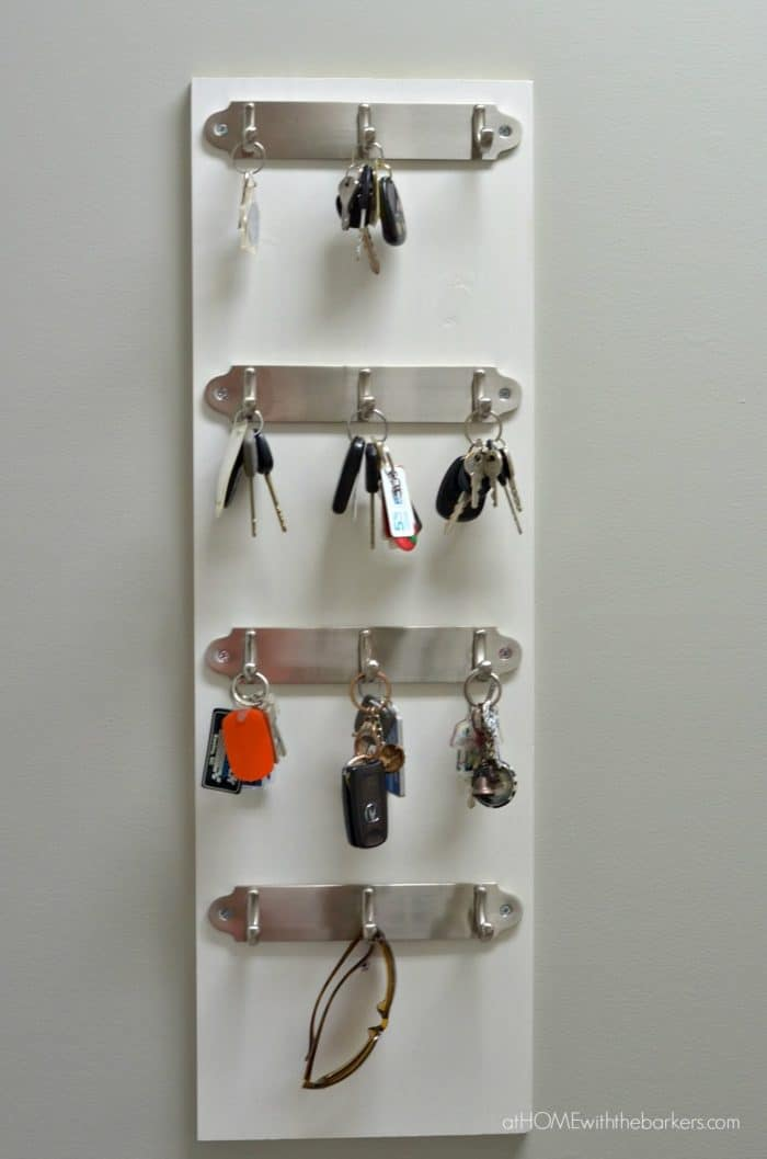 DIY Key Organizer that is sturdy enough for keys and more