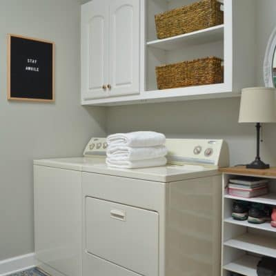 Seasonal Simplicity Laundry Room Makeover