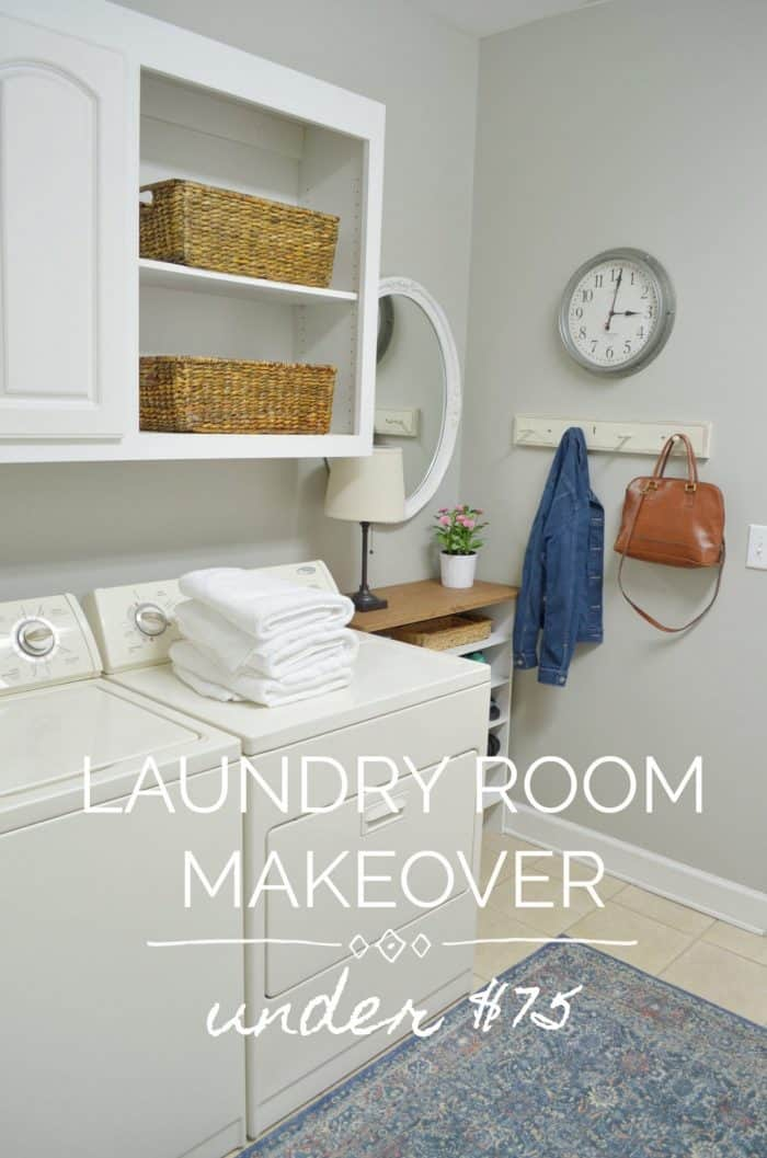 Laundry Room Makeover / Affordable, Simple decor changes for big impact
