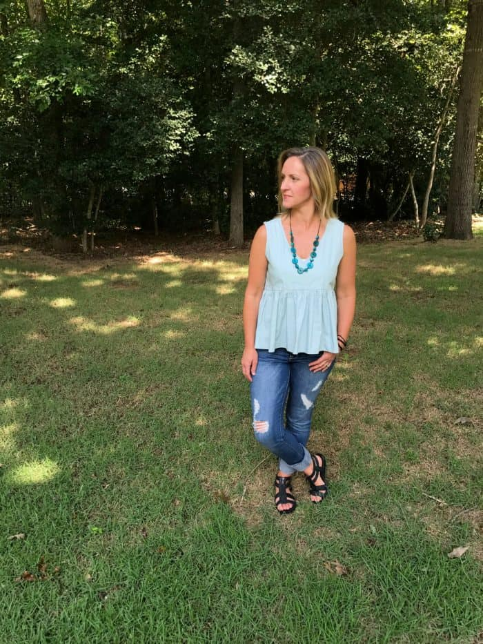 Cuffed Crop Skinny Jeans