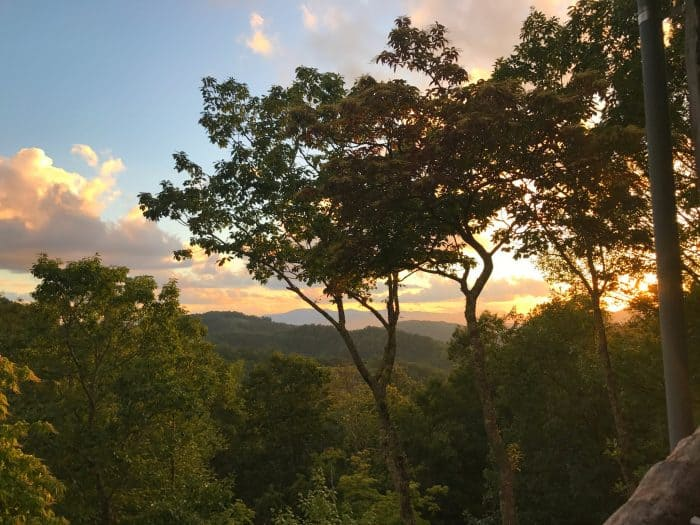 Balsam Mountain Preserve Western North Carolina Sunset