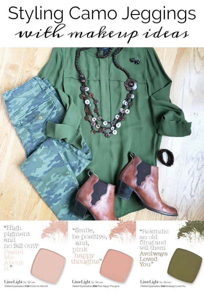 Camo Jeggings and LimeLight Eye Shadows