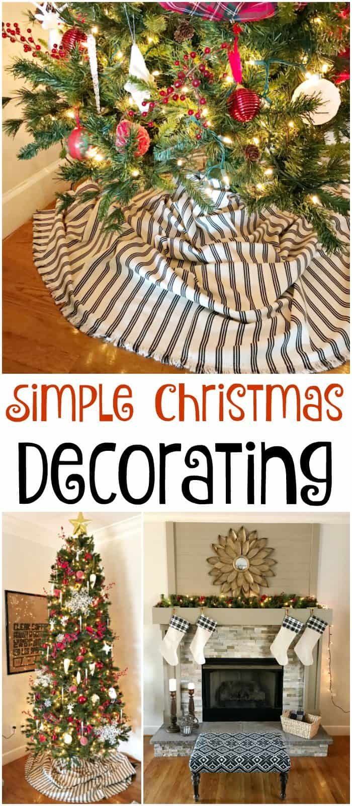Simple christmas decorating at home with the barkers for Simple home decor for christmas