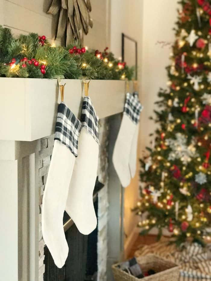 Simple Christmas Decorating with DIY Stockings