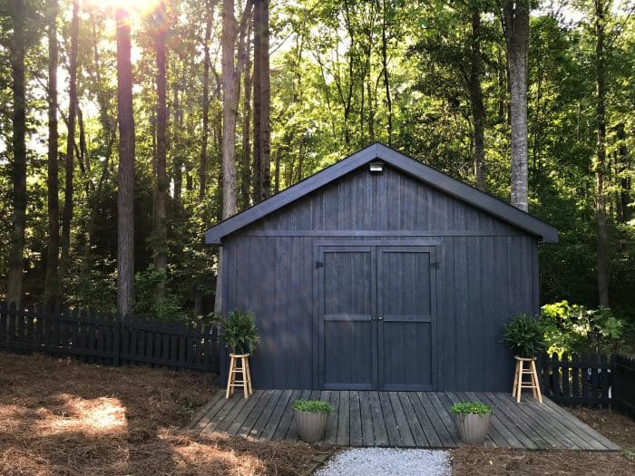 Backyard Fence and Shed Makeover