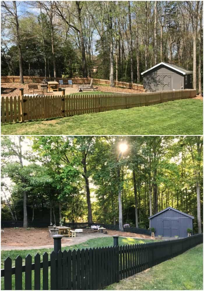 Backyard Makeover Before and After One Room Challenge