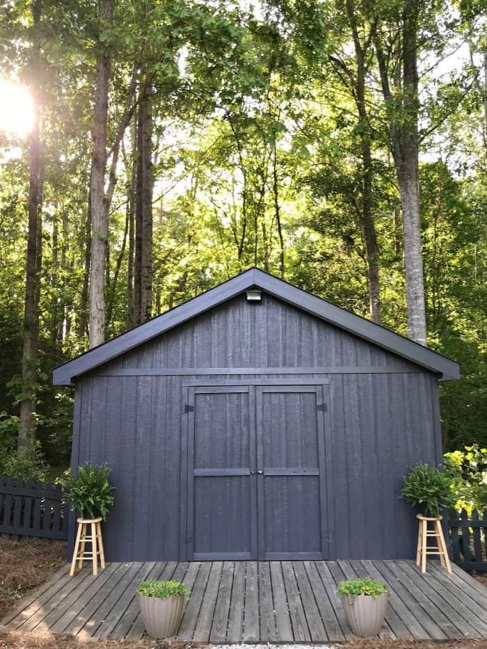 One Room Challenge Spring Backyard Shed Makeover
