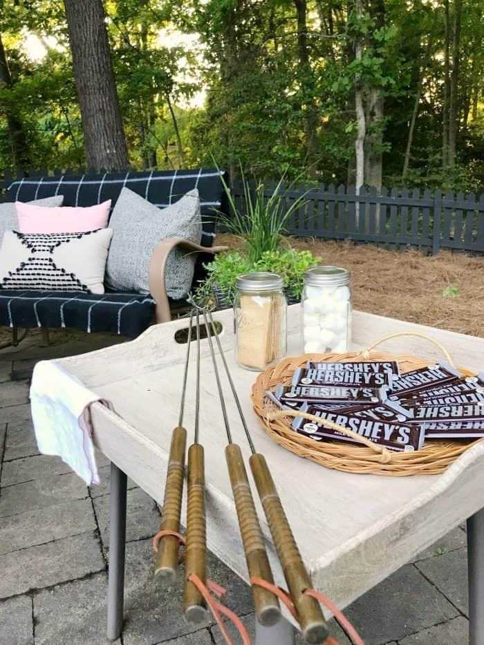 Backyard S'mores Station One Room Challenge