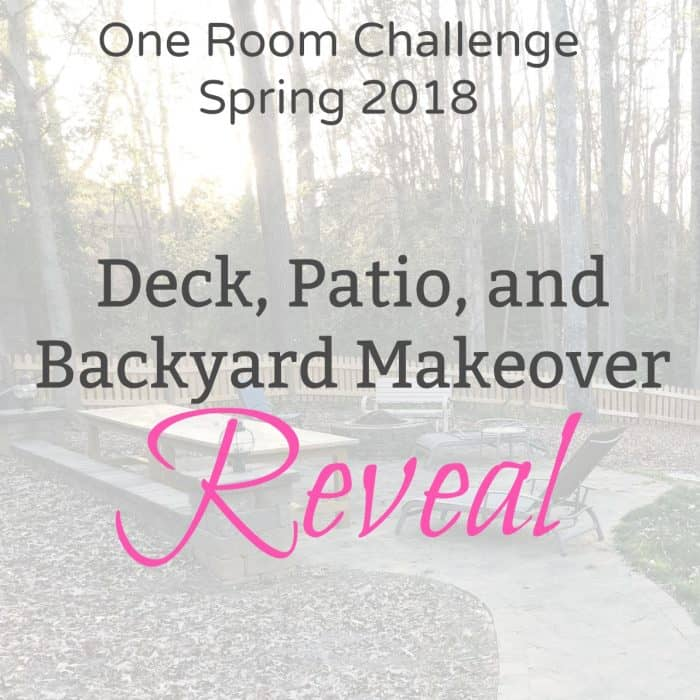 One Room Challenge Backyard Makeover Reveal
