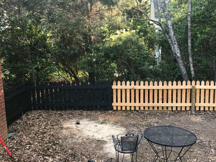 One Room Challenge Fence Before and After