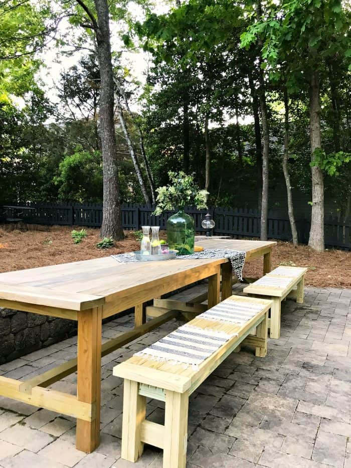 One Room Challenge Patio Farm Tables