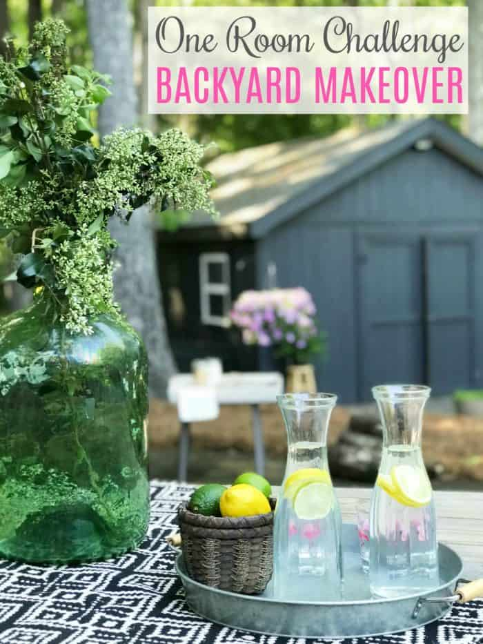 One Room Challenge Spring 2018 Backyard Makeover Reveal