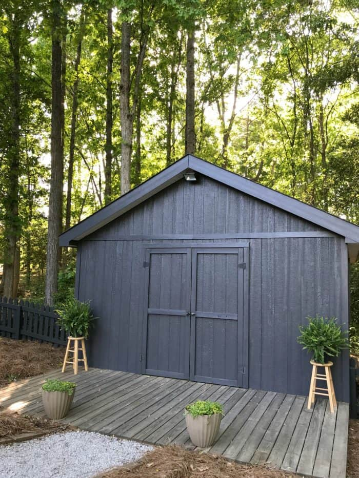 Painted Shed in Behr Cracked Pepper