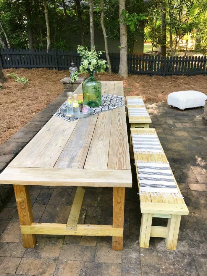 Patio Farm Table Build One Room Challenge