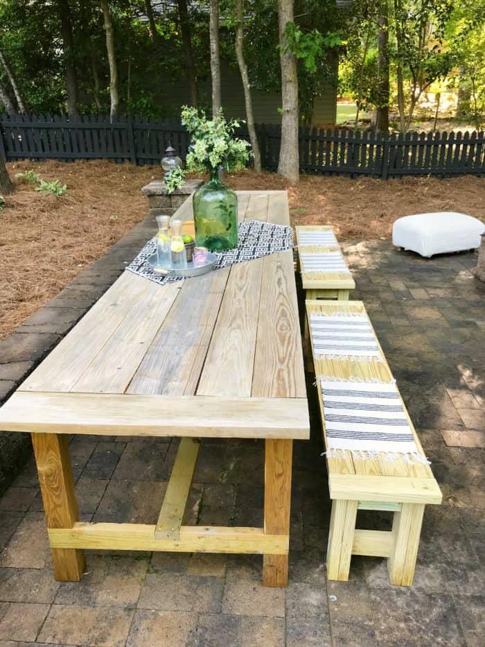 Patio Farm Table Build One Room Challenge