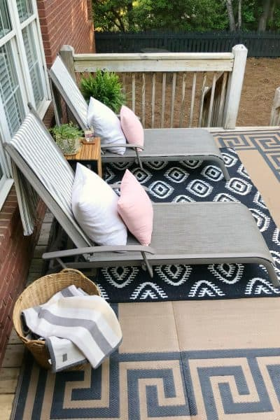 Spring Deck Makeover One Room Challenge