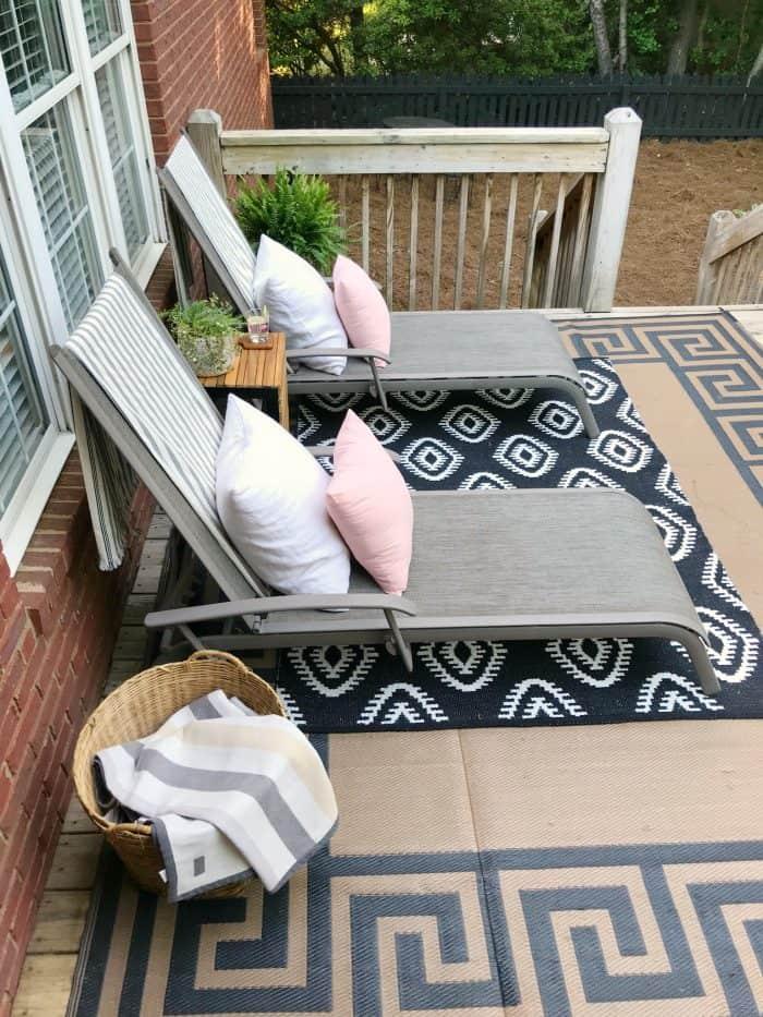 Spring Deck Makeover One Room Challenge