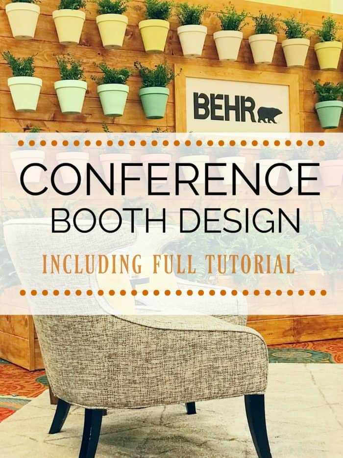 Conference and Event Booth build and design tutorial / BEHR Haven Booth Design #athomewiththebarkers #sponsored