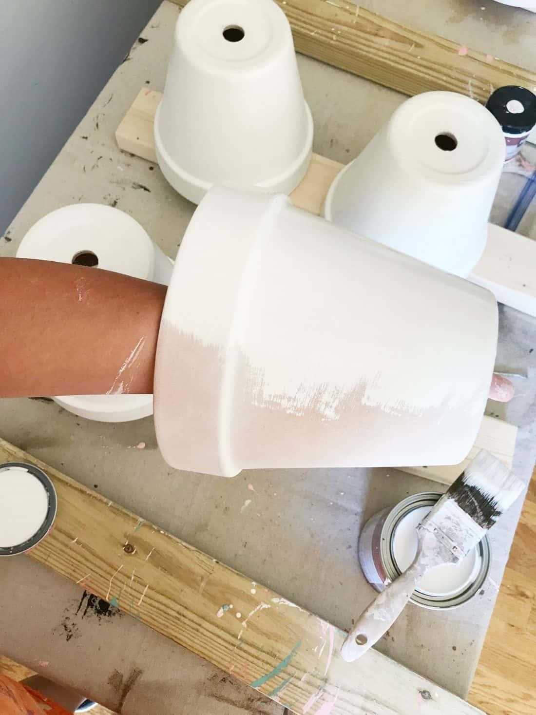 Best trick for painting terra cotta pots