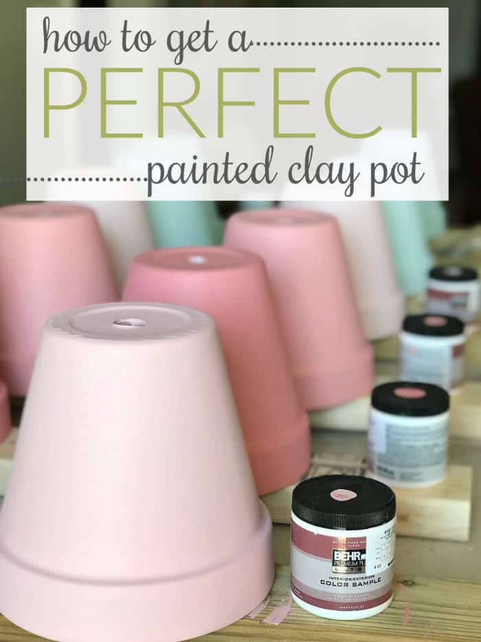 Hot to paint terra cotta pots