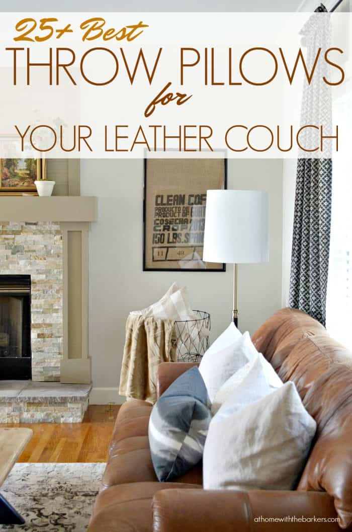 Best Throw Pillows For Leather Couch At Home With The Barkers