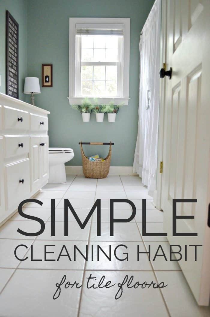 Simple cleaning habit for tile floors that is easy and effective. #Bona